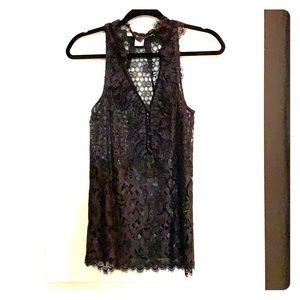Diane Von Furstenberg lace top, size 4